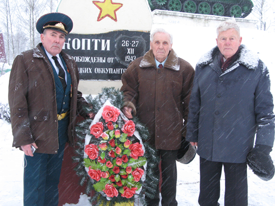 возложение венков к памятникам на мемориале