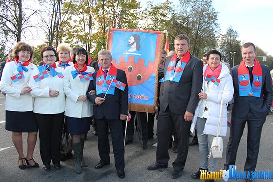 На снимке: делегация Витебского района