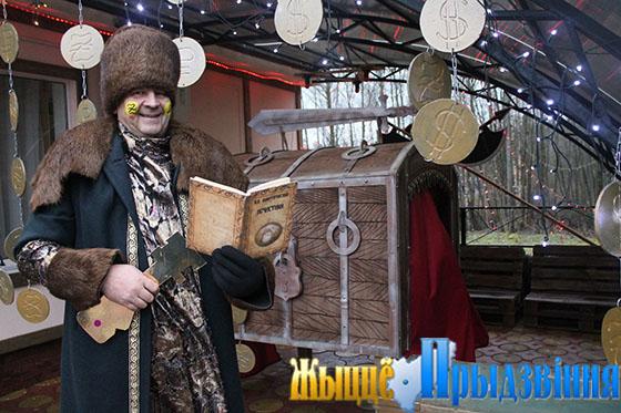 На снимке: Кладник в исполнении Олега Клянского (завхоза Вымнянской ДССШ)