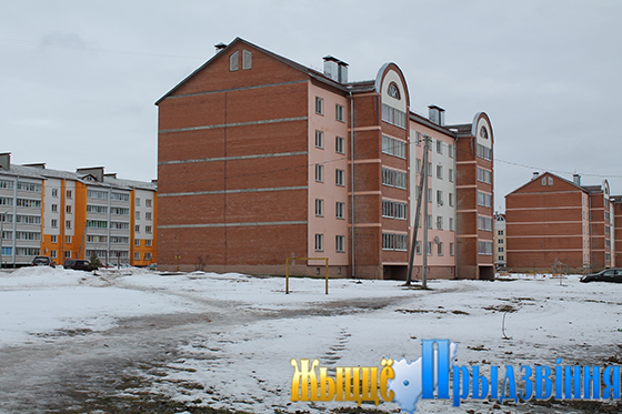 На снимке: новый микрорайон в аг. Октябрьская по ул. Оршанской