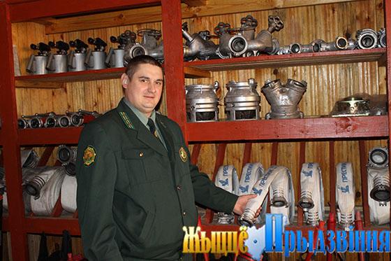 На снимке:  главный лесничий А. Москалев