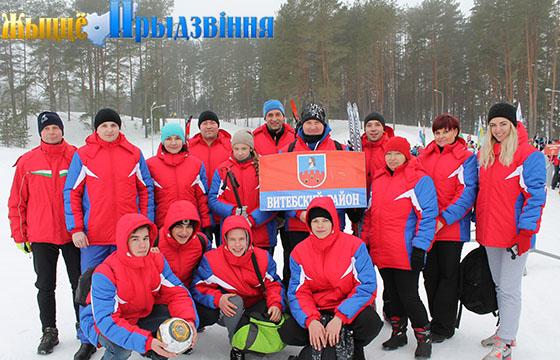 На снимке: команда Витебского района