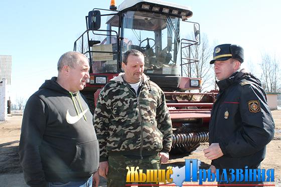 В Витебском районе сотрудники милиции проводят рейды на предмет обеспечения сохранности семян, ГСМ и прочих ТМЦ
