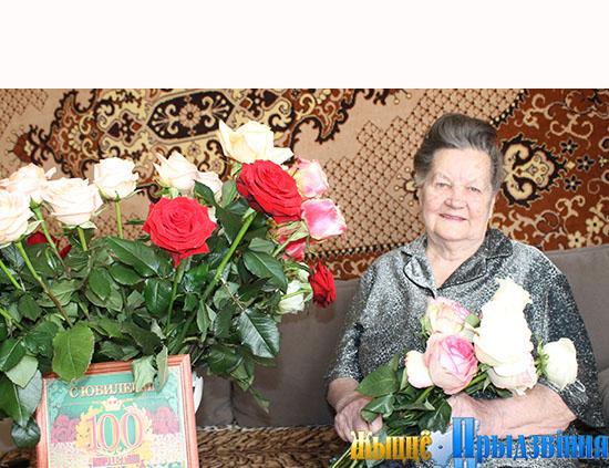 100-летие в кругу семьи отметила жительница аг. Копти Витебского района Елизавета Махановская