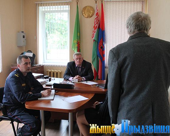 В аг. Вороны Витебского района прошел совет общественного пункта охраны правопорядка