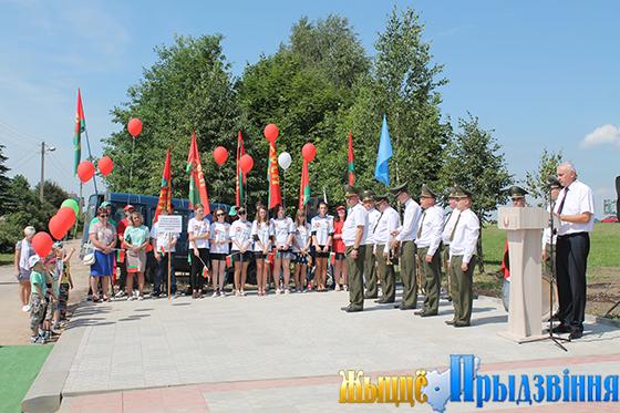 В аг. Кировская Витебского района в торжественной обстановке открыли памятный знак «Самолет СУ-24 М»
