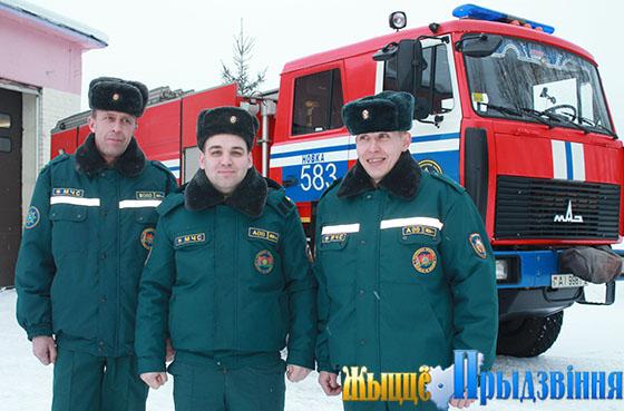 Спасатели-пожарные Витебского РОЧС отмечают профессиональный праздник