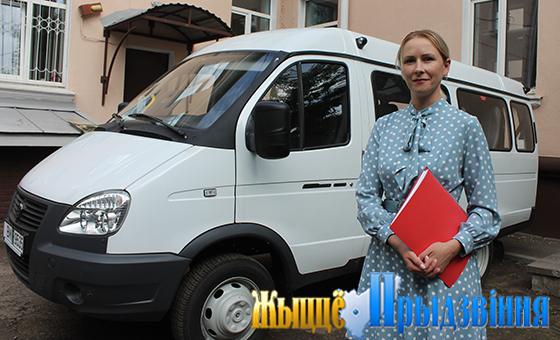 Территориальный центр соцобслуживания населения Витебского района получил новый автомобиль для перевозки людей с ограниченными возможностями