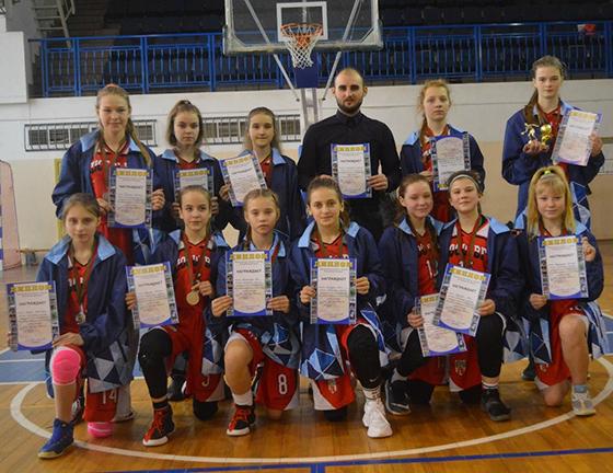 Сборная Витебской области стала серебряным призером  первенства Беларуси по баскетболу среди девочек 2006/2007 годов рождения
