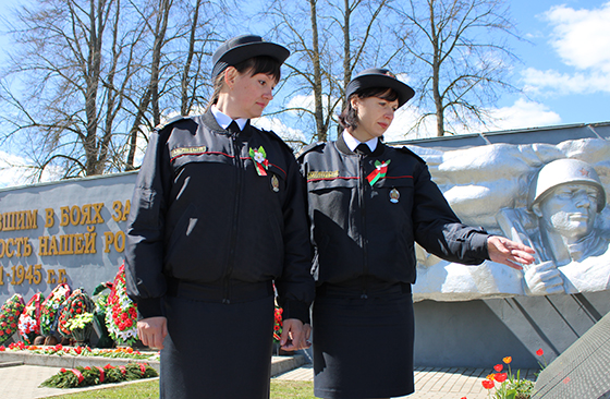 Сотрудники управления по гражданству и миграции областного УВД посетили места воинской славы в Витебском районе