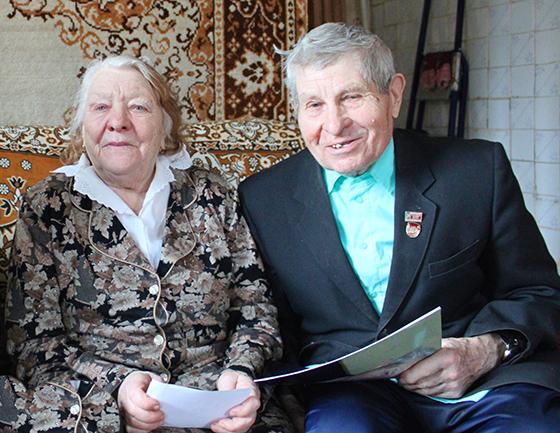 На снимке:  супруги Пименовы.