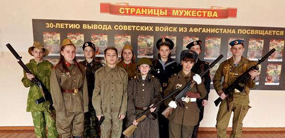 В Замосточской детский сад — базовой школе Витебского района функционирует факультатив « Юные защитники Отечества»