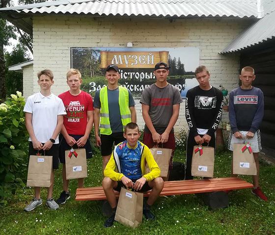 Школьники из Витебского района приняли участие в велопробеге «Дорогами славы»