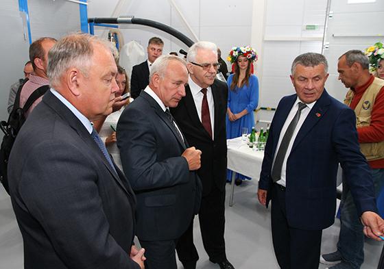 Завод по переработке масличных культур запустили в филиале СХП «Мазоловогаз» Витебского района