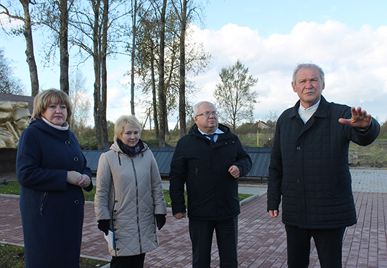 Ремонт воинского захоронения в д. Шапуры Витебского района находится на завершающей стадии